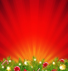 Red Xmas Sunburst Border vector image