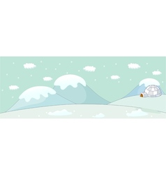 Snow Igloo Scene vector image