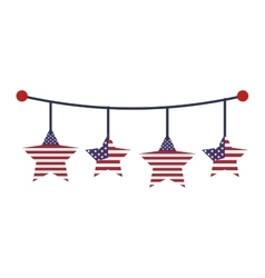 United states of america garland vector