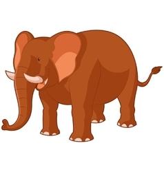 Cartoon smiling elephant vector image vector image
