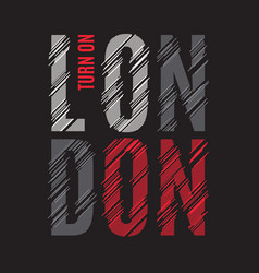 london tee print t-shirt design graphics stamp vector image vector image