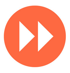 arrow sign fast forward flat circle icon vector image