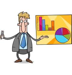 businessman presentation cartoon vector image vector image