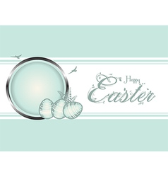 Easter eggs pastel green border vector image vector image