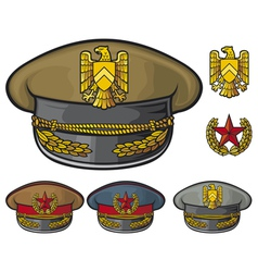 military hats vector image vector image