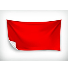 Red cloth banner vector image vector image