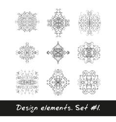 Round design element Circle pattern in black vector image