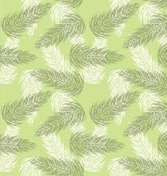 seamless palm branch pattern vector image vector image