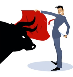 Businessman torero fighting a bull vector image