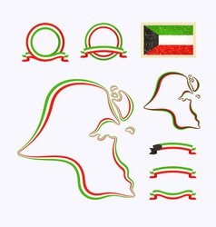 Colors of Kuwait vector image vector image
