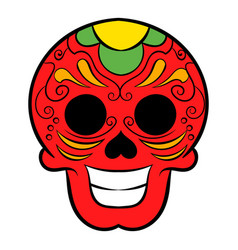 latin skull icon cartoon vector image