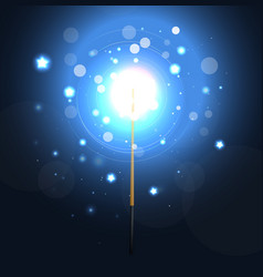 Magic Wand Background With Stars vector image vector image