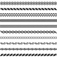 Old border designs set vector image vector image