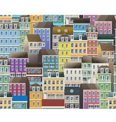 old town pattern vector image vector image