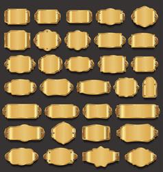 retro vintage golden frames collection vector image