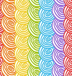 Seamless simple rainbow doodle background with vector image
