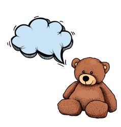 teddy bear-100 vector image