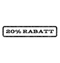 20 percent rabatt watermark stamp vector image