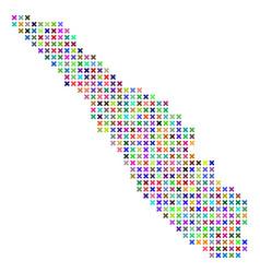 Abstract sumatra island map vector