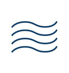 abstract wiggly icon wind water waves vector image