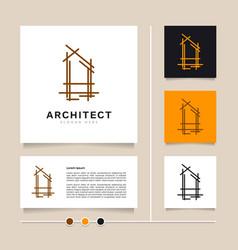 architect line concept logo design vector image