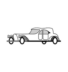 Aristocratic car 20 years of the twentieth century vector