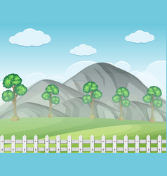Background scene with fog in the field vector