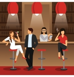 Bar Flat vector image