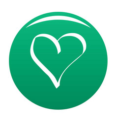 Best heart icon green vector