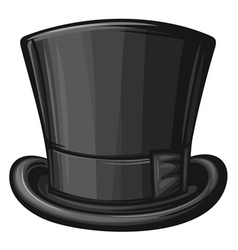 black gentleman hat vector image