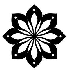 Black line flower pattern on white background vector