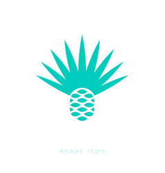 Blue agave icon tequila mescal logo emblem vector