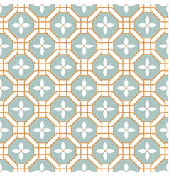 blue azulejos pattern portugal tile seamless vector image
