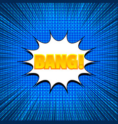 blue comic background vector image
