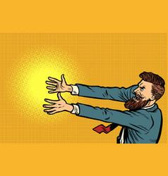 businessman strangler arms forward vector image