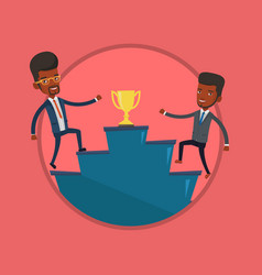 Businessmen competing for the business award vector