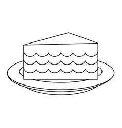 Cake silhouette vector