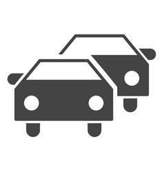 Car traffic icon vector