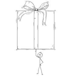 cartoon of man or businessman balancing or vector image