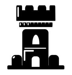 castle tower icon simple style vector image