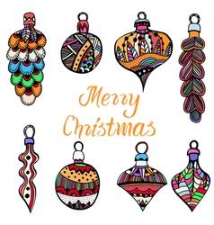 Christmas tree toys vector