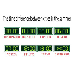 clock with time zones on a white background vector image