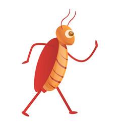 Cockroach kitchen icon cartoon style vector