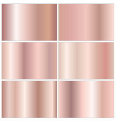 collection of metallic gradients vector image
