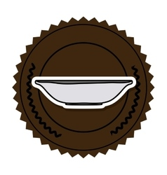 Color round frame with bowl vector