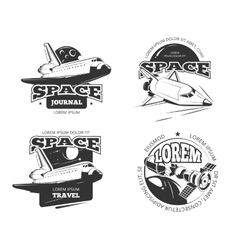 Cosmos space astronaut badges emblems and logos vector