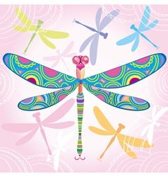 Decorative dragonfly vector