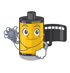 doctor camera roll in mascot shape vector image