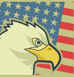 eagle flag usa vector image