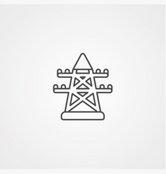 electric tower icon sign symbol vector image